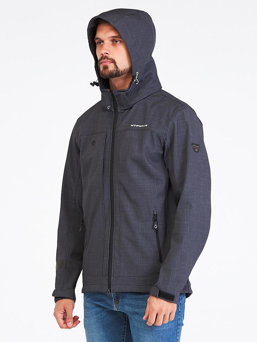 Купить оптом Ветровка softshell мужская темно-серого цвета 1915TC