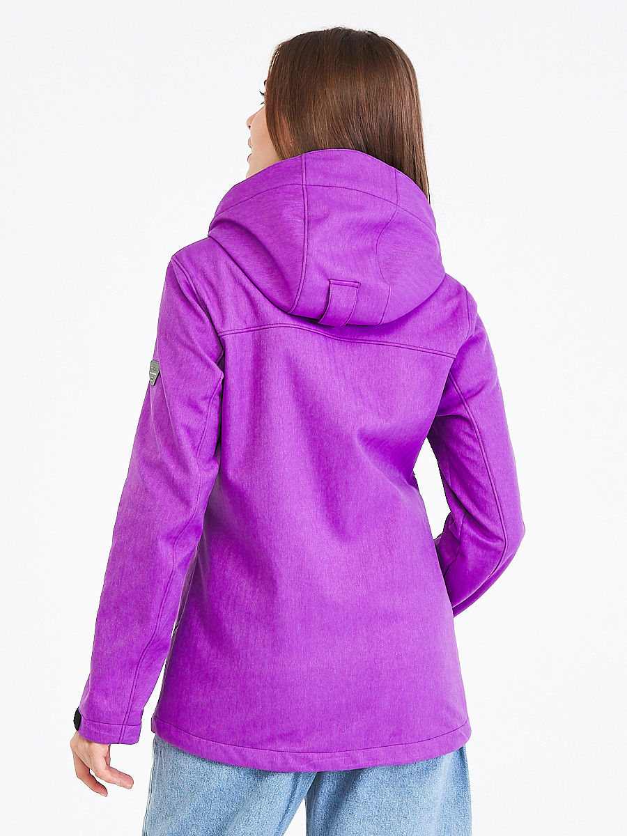 Купить оптом Ветровка softshell женская фиолетового цвета 19077F