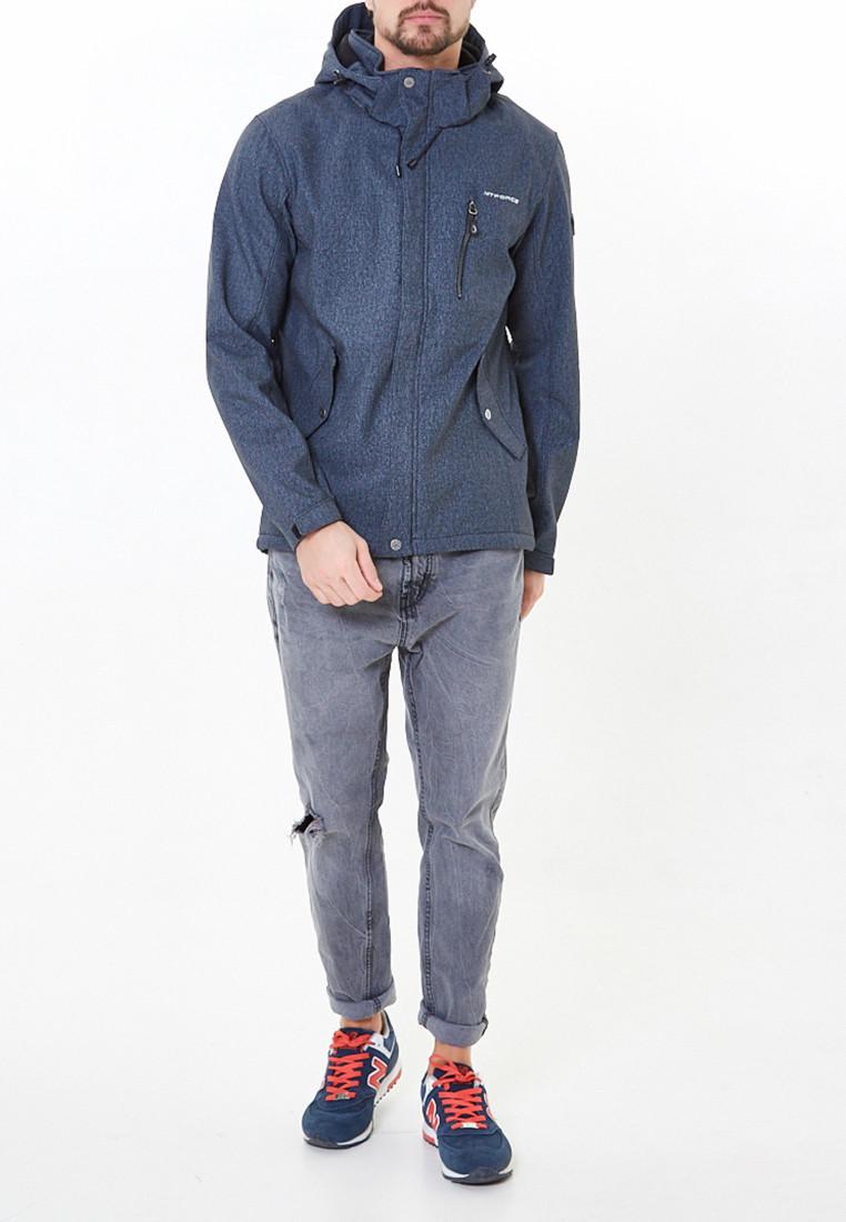 Купить оптом Ветровка softshell мужская серого цвета 1920-1Sr
