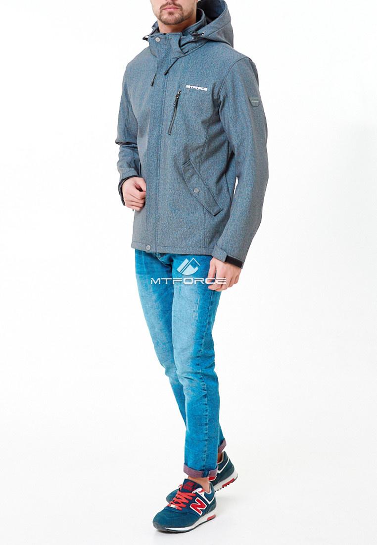 Купить оптом Ветровка softshell мужская голубого цвета 1920Gl