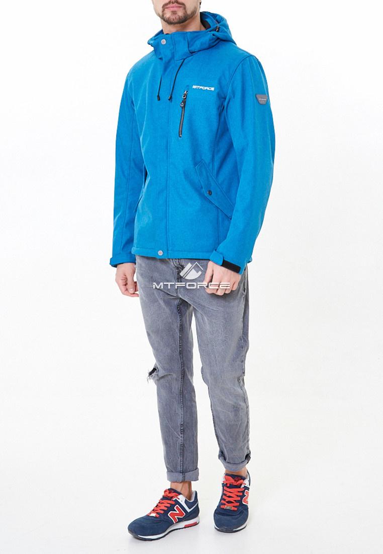 Купить оптом Ветровка softshell мужская синего цвета 1920-1S