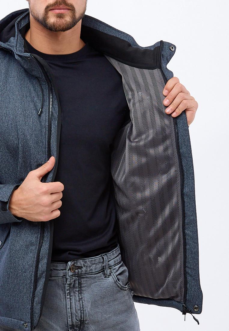 Купить оптом Ветровка softshell мужская серого цвета 1920Sr в Омске