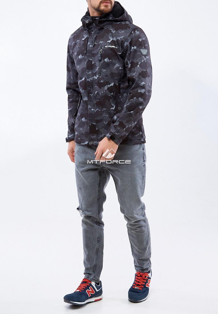 Купить оптом Ветровка softshell мужская темно-серого цвета 1920TC