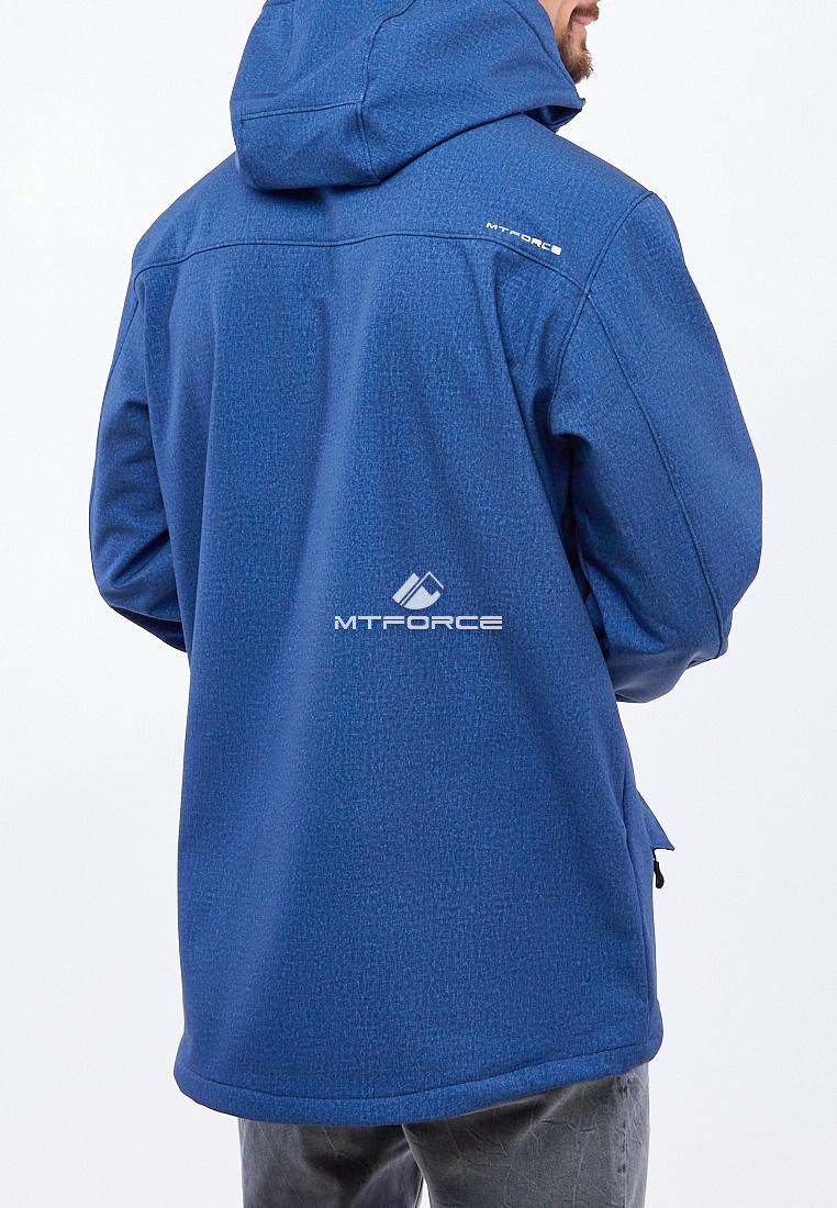 Купить оптом Ветровка softshell мужская большого размера синего цвета 1921S