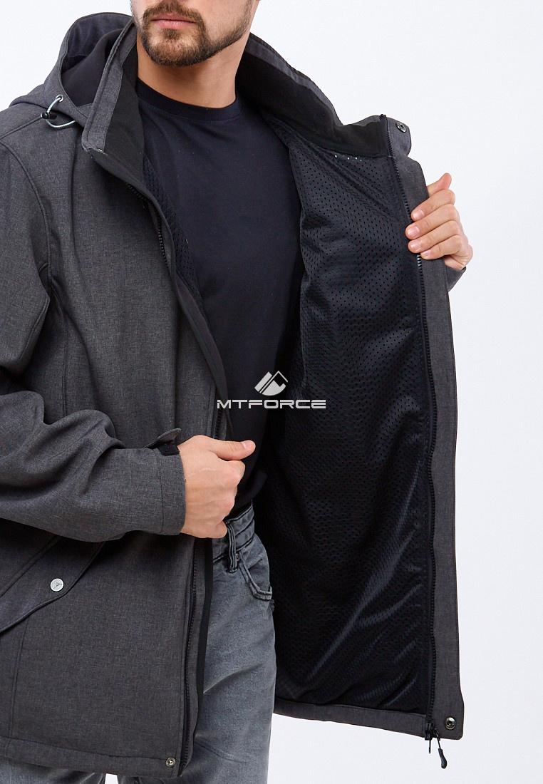 Купить оптом Ветровка softshell мужская большого размера темно-серого цвета 1921TC в Новосибирске