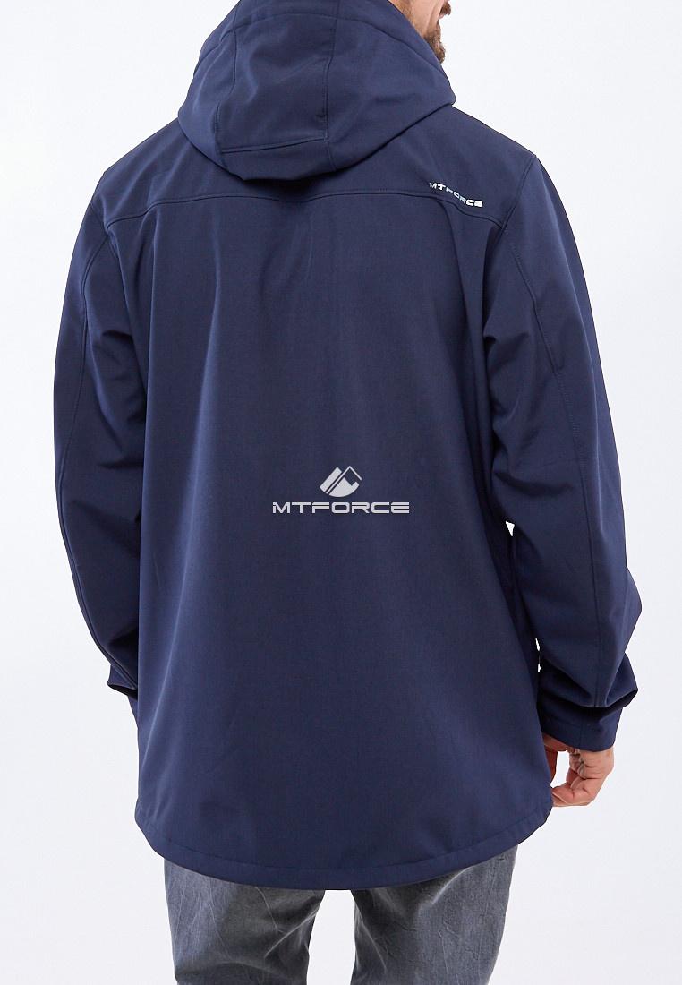 Купить оптом Ветровка softshell мужская большого размера темно-синего цвета 1921TS