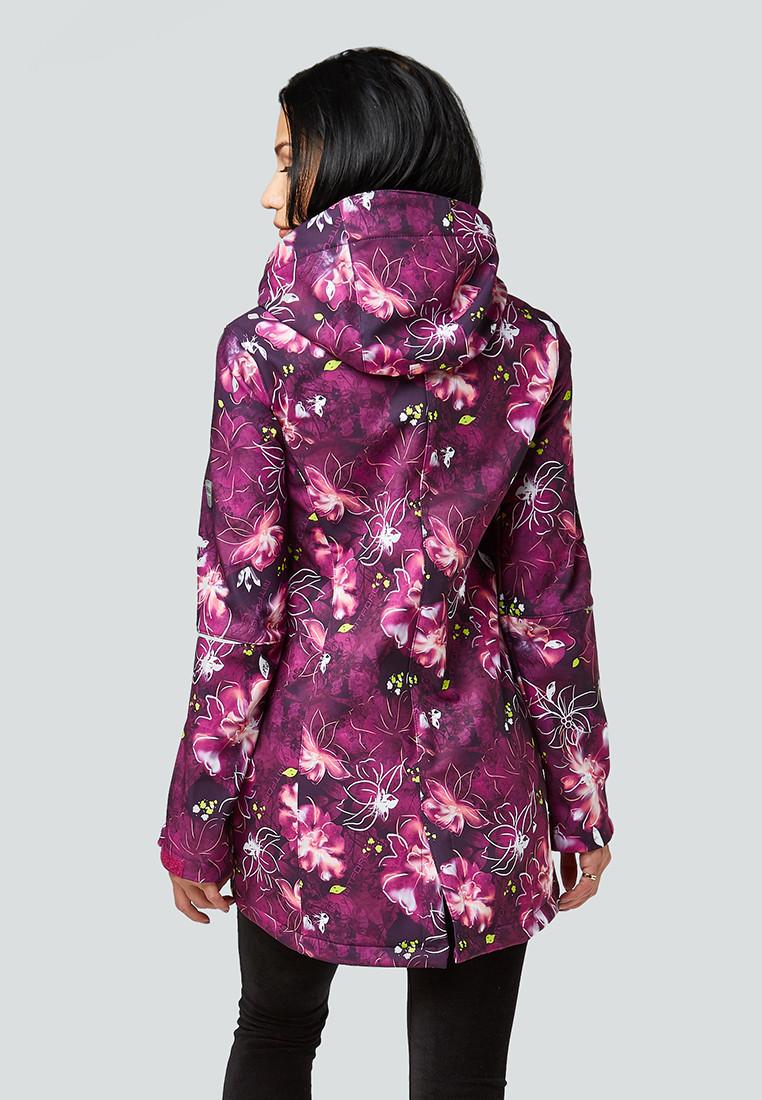 Купить оптом Парка женская осенняя весенняя softshell фиолетового цвета 1922-2F в Екатеринбурге