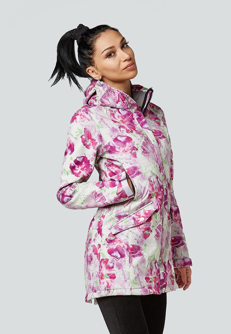 Купить оптом Парка женская осенняя весенняя softshell розового цвета 1922-2R в Омске