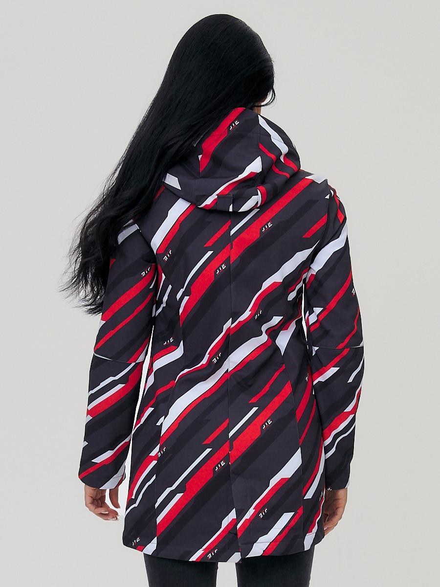 Купить оптом Парка женская осенняя весенняя softshell красного цвета 19221Kr