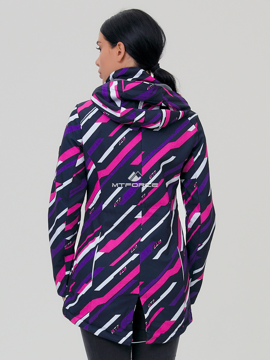 Купить оптом Парка женская осенняя весенняя softshell фиолетового цвета 1923-1F