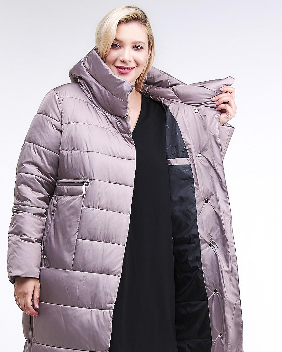 Купить оптом Куртка зимняя женская молодежная бежевого цвета 191923_12B в  Красноярске