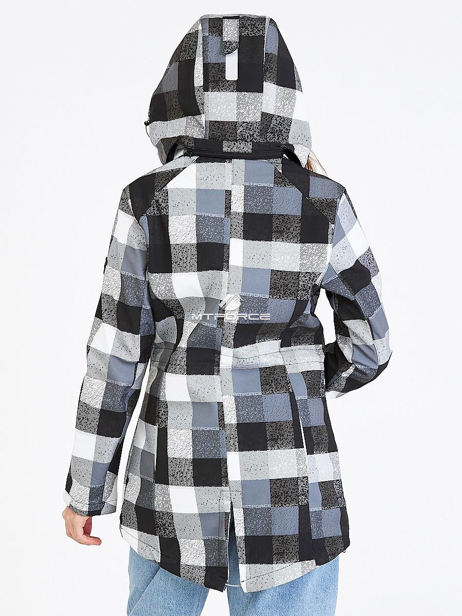 Купить оптом Парка женская осенняя весенняя softshell серого цвета 1923Sr