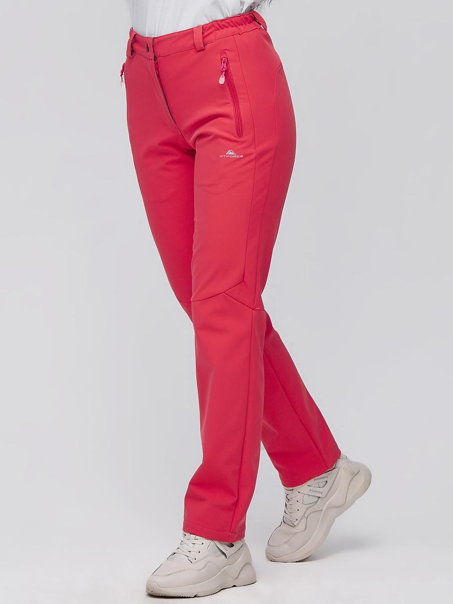 Купить оптом Брюки женские из ткани softshell розового цвета 1926R в Сочи