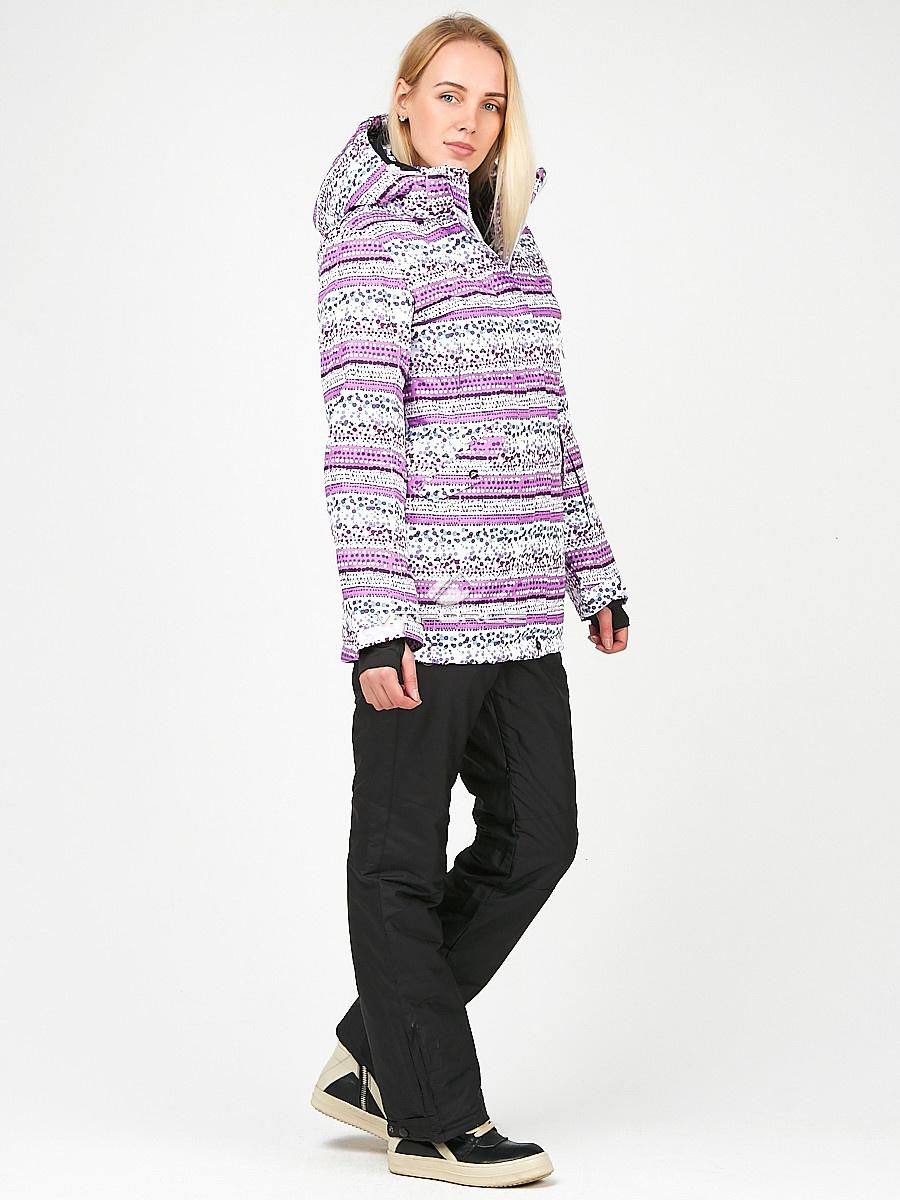 Купить оптом Женский зимний горнолыжный костюм фиолетового цвета 01937F в Новосибирске