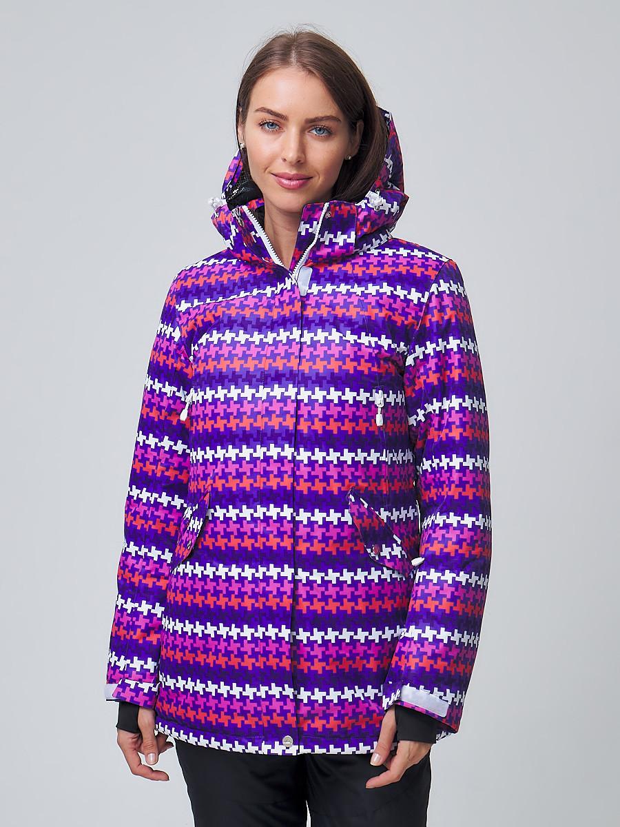 Купить оптом Женская зимняя горнолыжная куртка темно-фиолетового цвета 1937TF в Екатеринбурге
