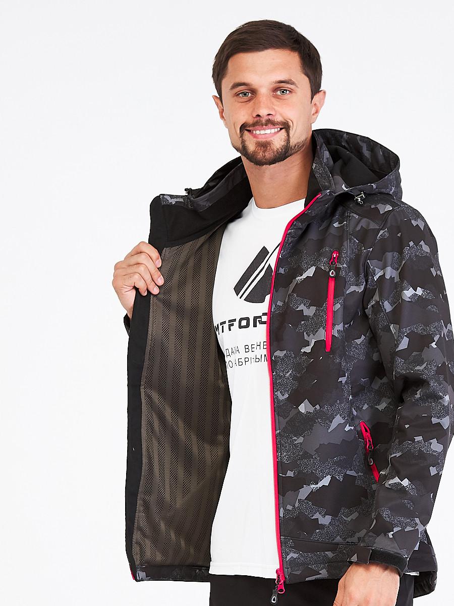 Купить оптом Костюм мужской softshell темно-серого цвета 01941-1TС