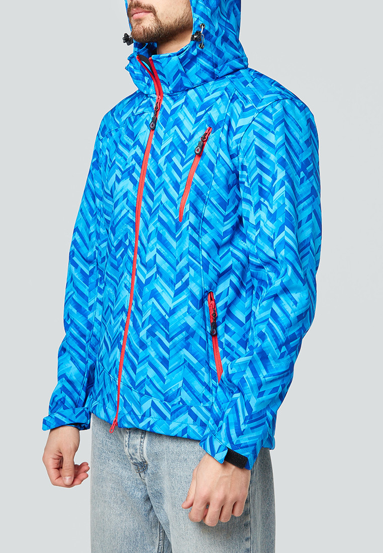 Купить оптом Ветровка softshell мужская синего цвета 1941S в Екатеринбурге