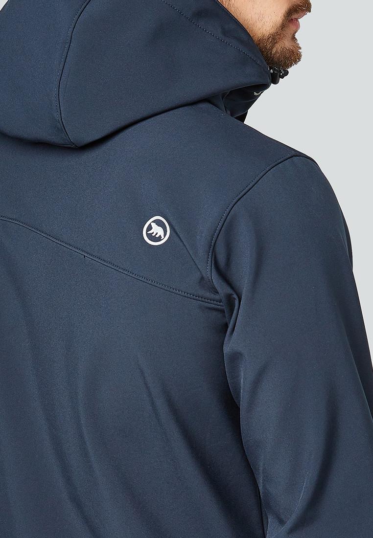 Купить оптом Ветровка softshell мужская темно-синего цвета 1942TS