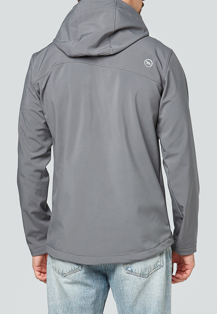 Купить оптом Ветровка softshell мужская серого цвета 1942Sr