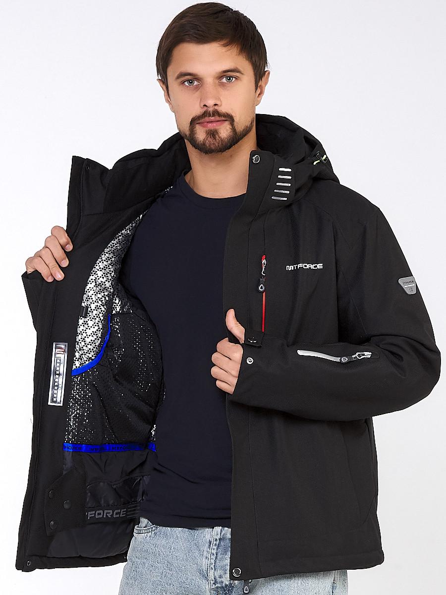 Купить оптом Мужская зимняя горнолыжная куртка большого размера черного цвета 19471Ch в  Красноярске