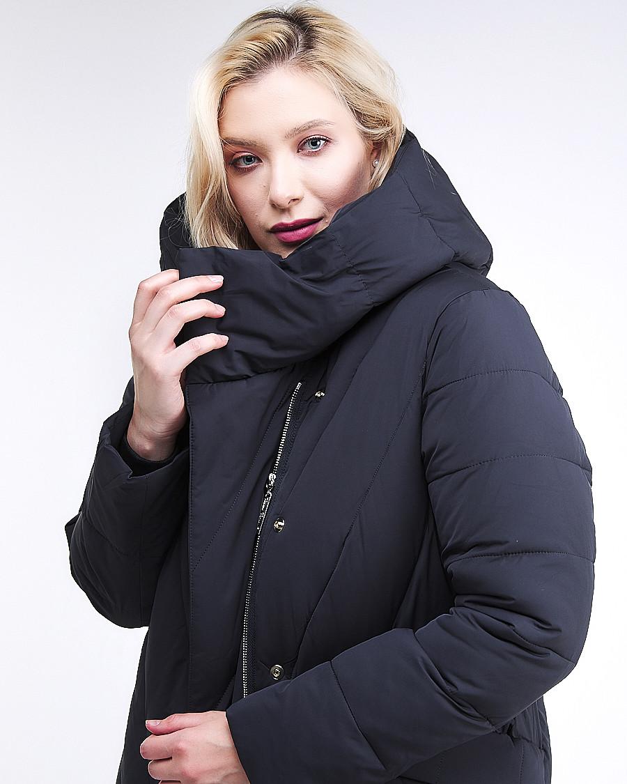 Купить оптом Куртка зимняя женская классическая одеяло темно-серого цвета 191949_11TC в Нижнем Новгороде