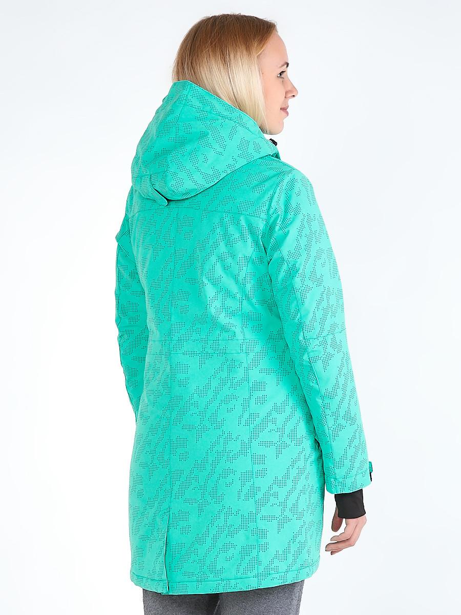 Купить оптом Куртка парка зимняя женская зеленого цвета 1949Z в  Красноярске