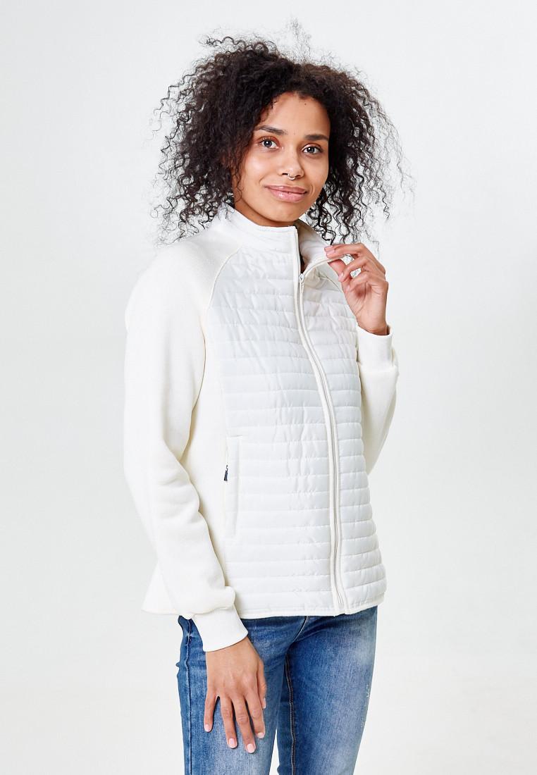 Купить оптом Молодежная стеганная куртка женская белого цвета 1960Bl в  Красноярске