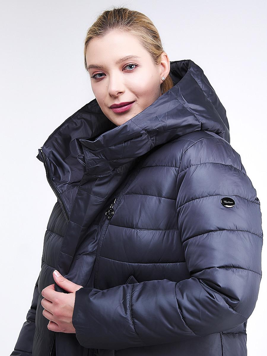Купить оптом Куртка зимняя женская классика темно-фиолетового цвета 1968_29TF в  Красноярске
