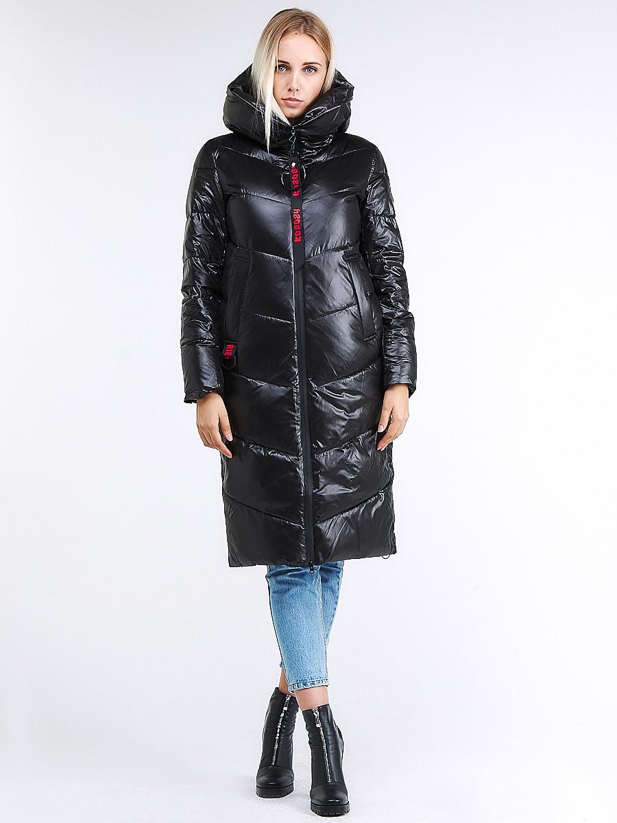 Купить оптом Куртка зимняя женская молодежная черного цвета 1969_01Ch в  Красноярске