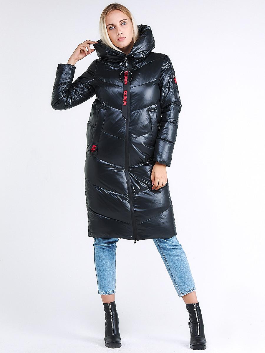 Купить оптом Куртка зимняя женская молодежная темно-зеленого цвета 1969_03TZ в  Красноярске