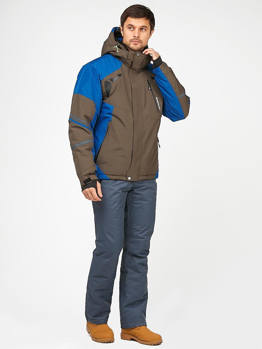 Купить оптом Мужской зимний горнолыжный костюм цвета хаки 01972Kh