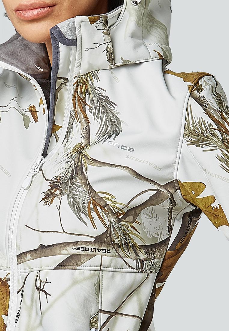 Купить оптом Ветровка softshell женская белого цвета 1977Bl в Новосибирске