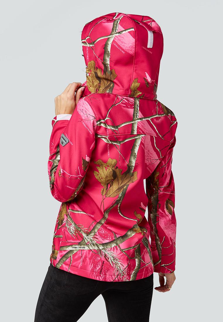 Купить оптом Ветровка softshell женская розового цвета 1977R