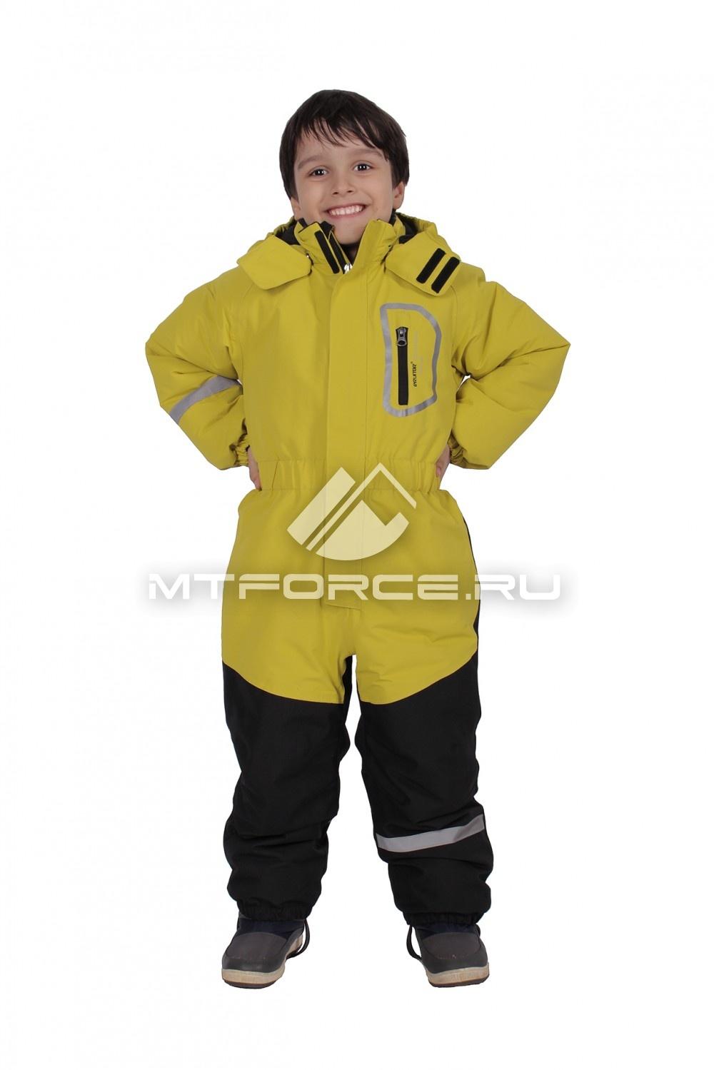 Купить                                  оптом Комбинезон горнолыжный  для мальчика горчичного цвета 1998G в Новосибирске