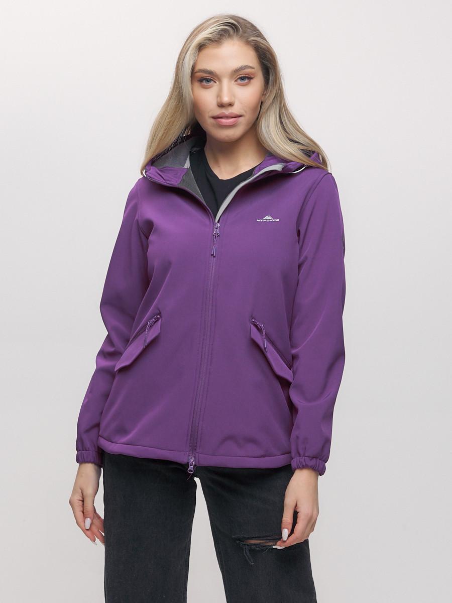 Купить оптом Ветровка MTFORCE женская фиолетового цвета 20014-1F в Екатеринбурге