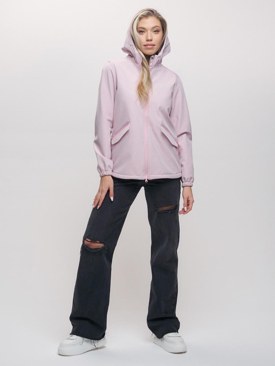 Купить оптом Ветровка MTFORCE женская розового цвета 20014R