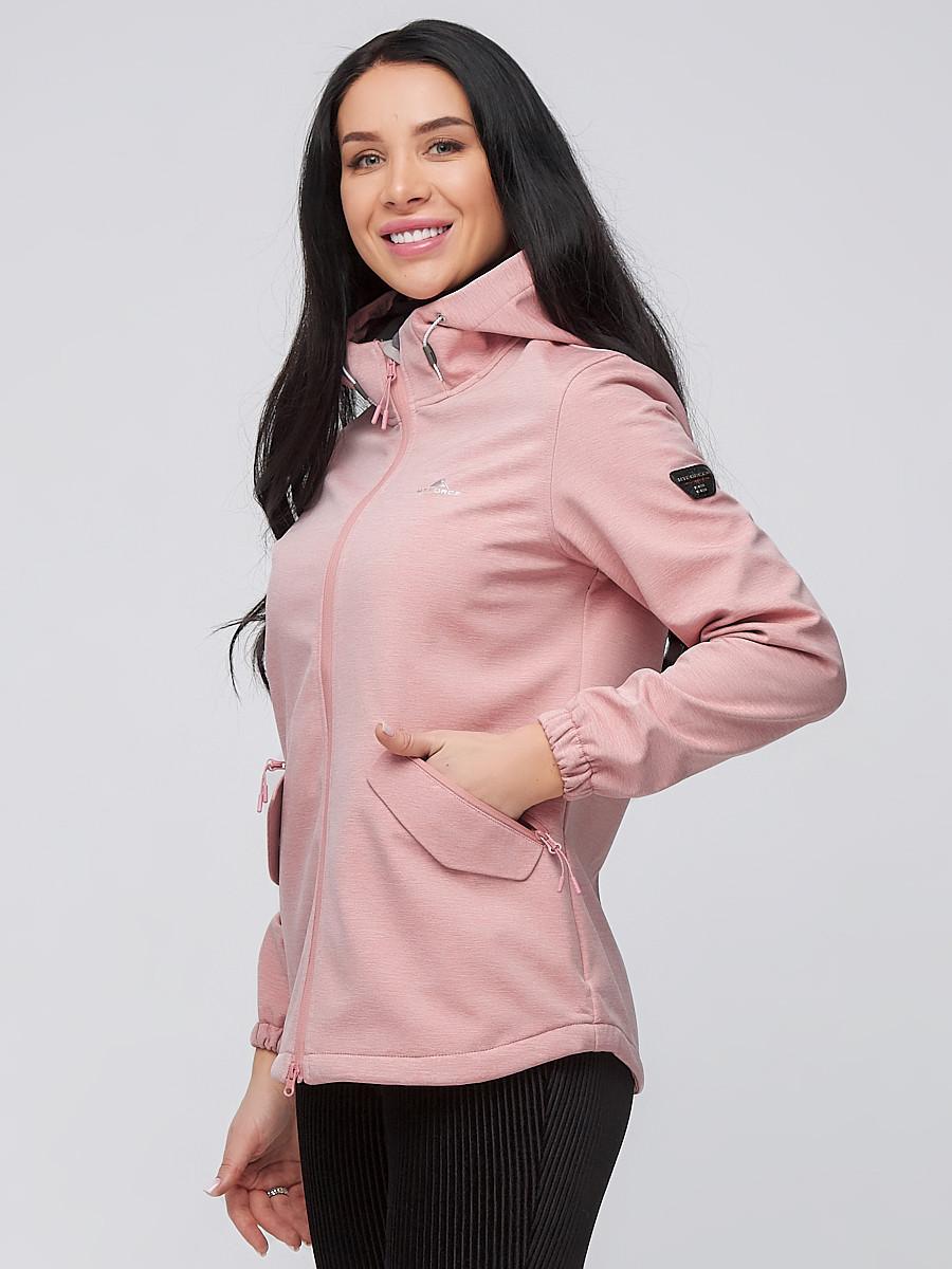 Купить оптом Ветровка softshell женская персикового цвета 2014P в Перми