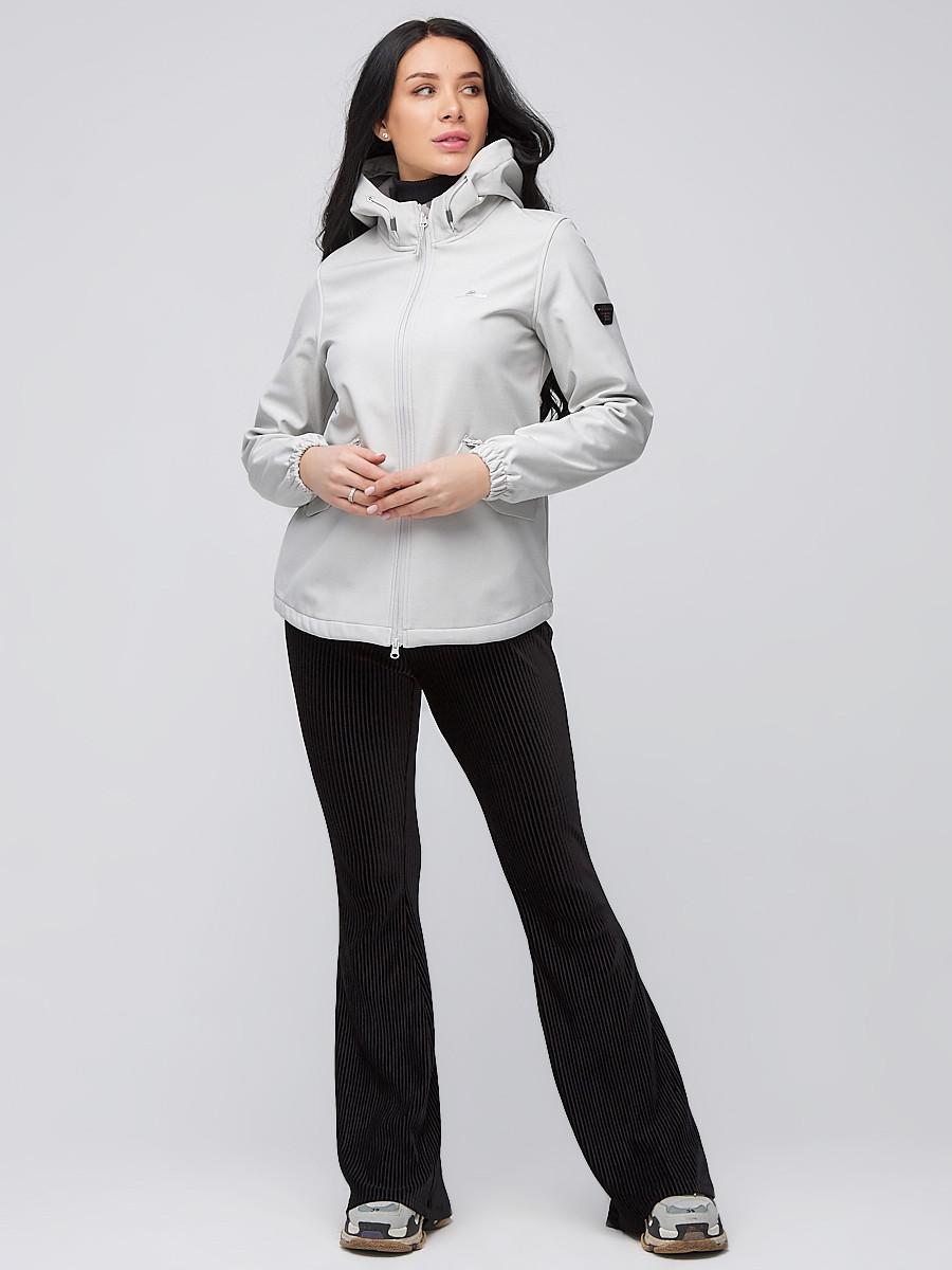 Купить оптом Ветровка softshell женская светло-серый цвета 2014SS в Новосибирске