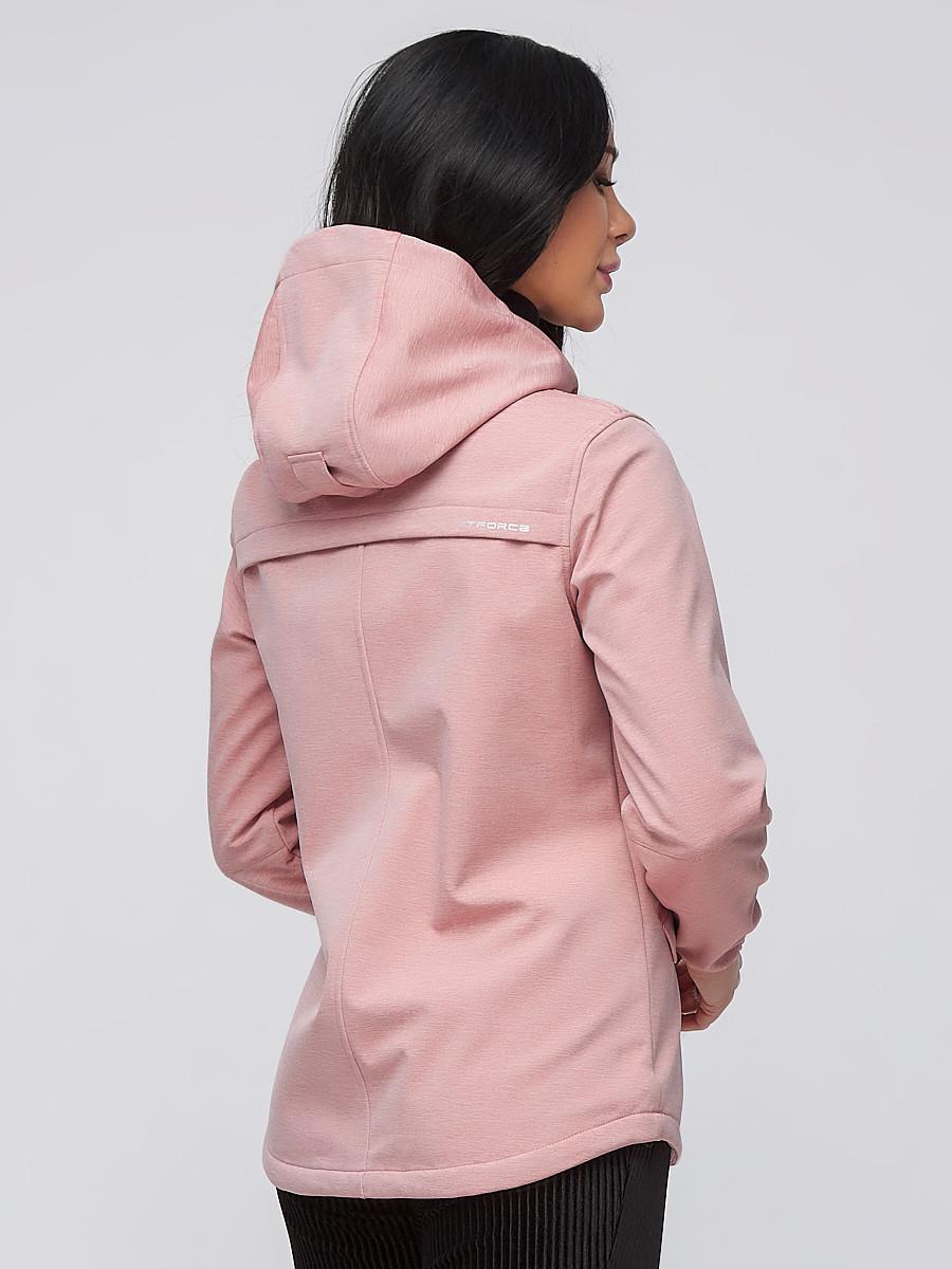 Купить оптом Ветровка softshell женская персикового цвета 2014P