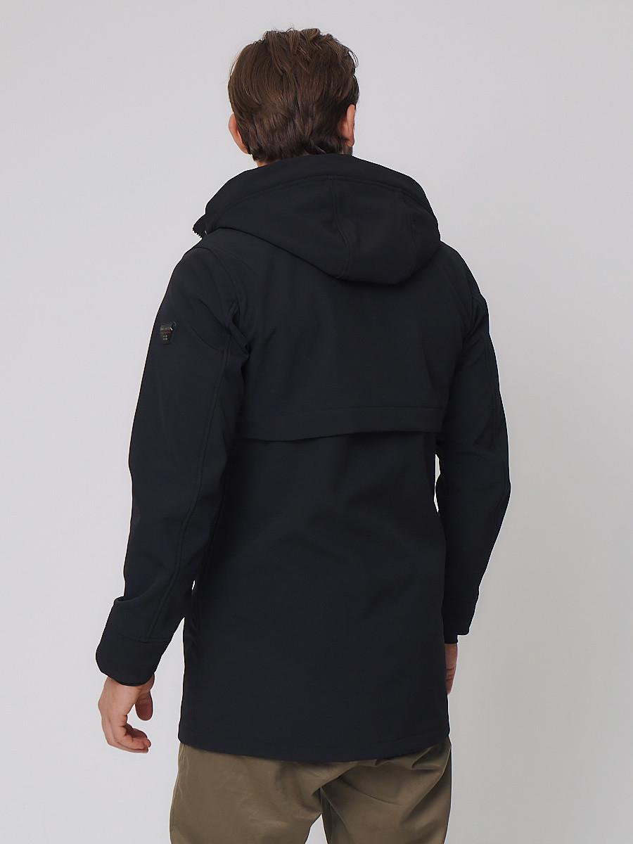 Купить оптом Парка мужская осенняя весенняя MTFORCE черного цвета 2020Ch