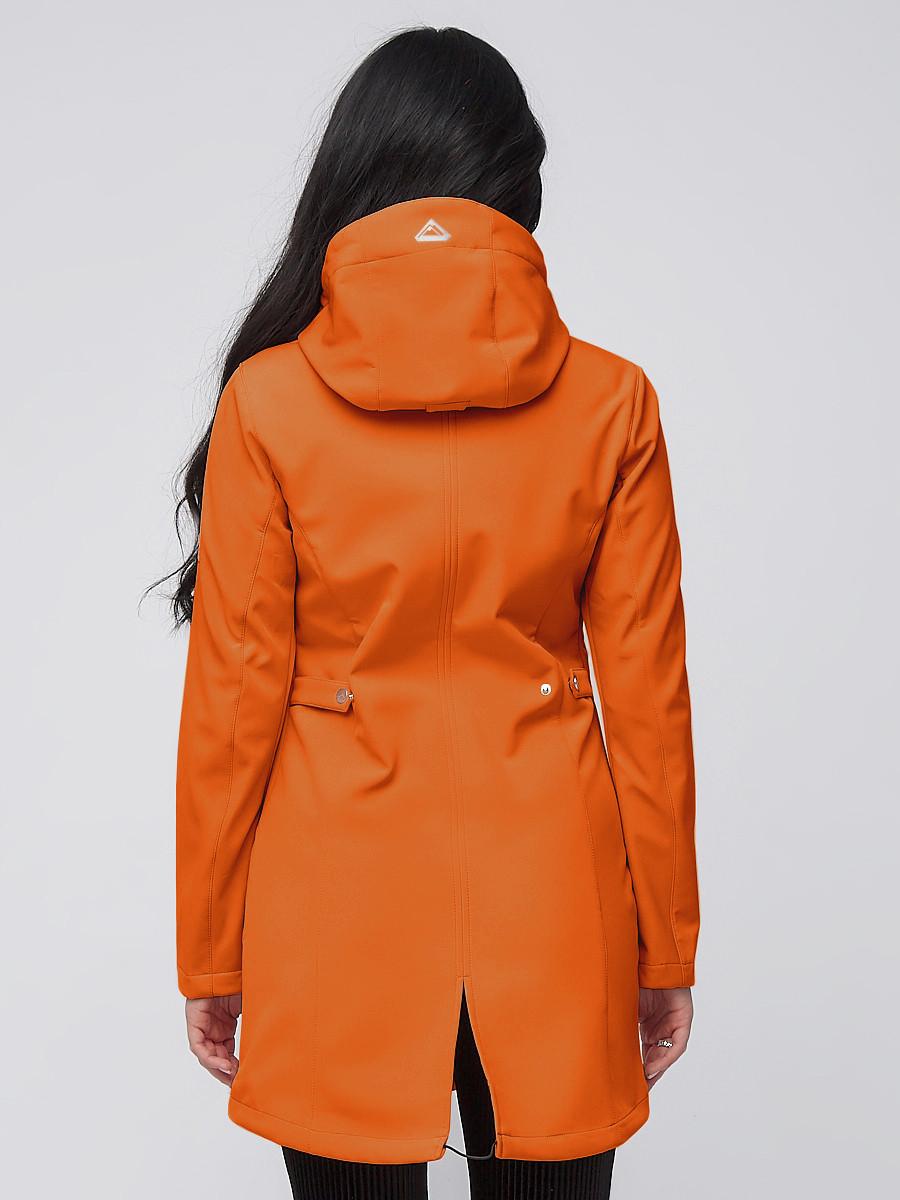 Купить оптом Парка женская осенняя весенняя softshell оранжевого цвета 2026O