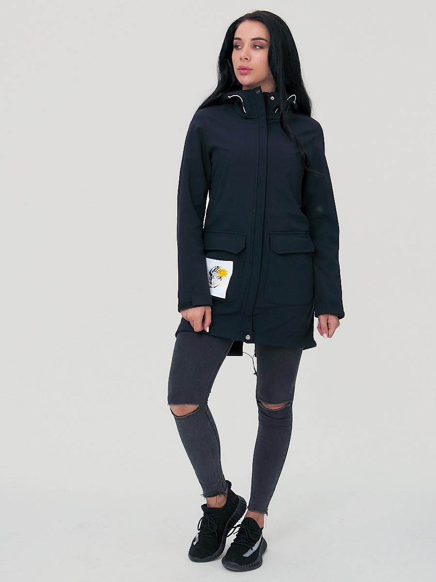 Купить оптом Парка женская MTFORCE черного цвета 2027Ch