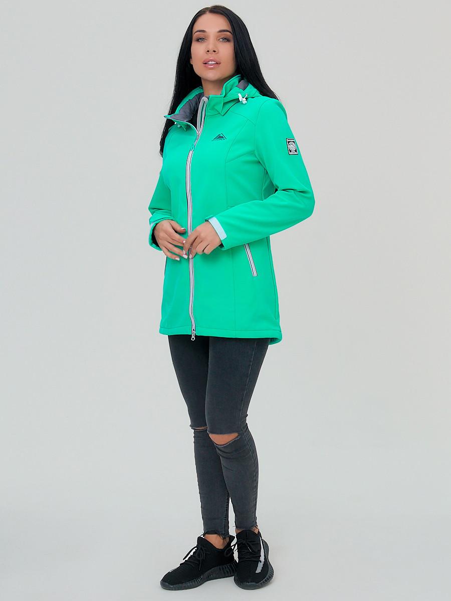 Купить оптом Парка женская MTFORCE салатового цвета 2029Sl