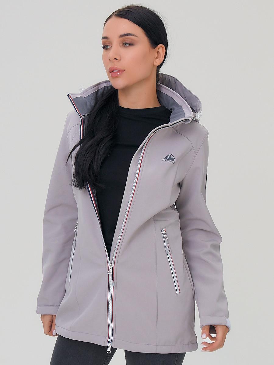 Купить оптом Парка женская MTFORCE серого цвета 2029Sr