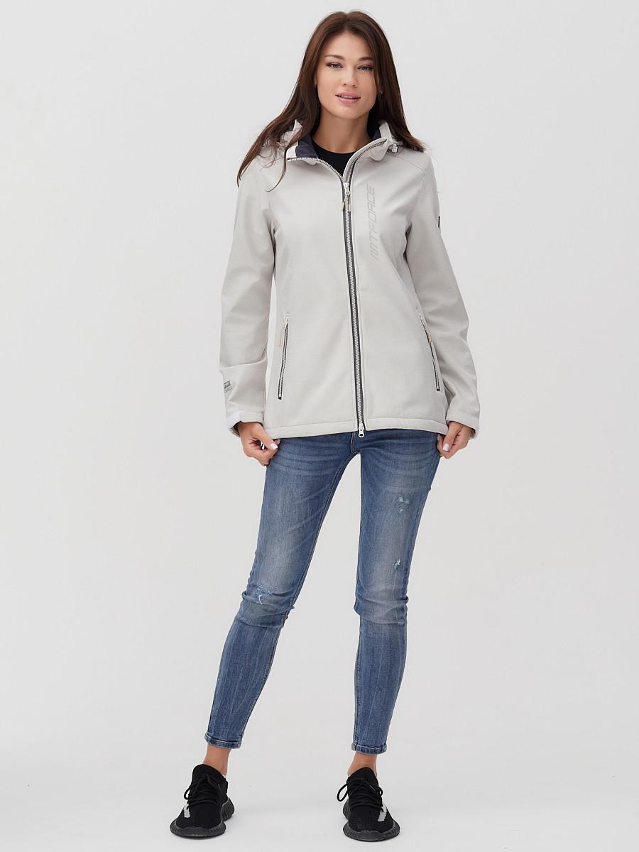 Купить оптом Ветровка MTFORCE женская бежевого цвета 2031B