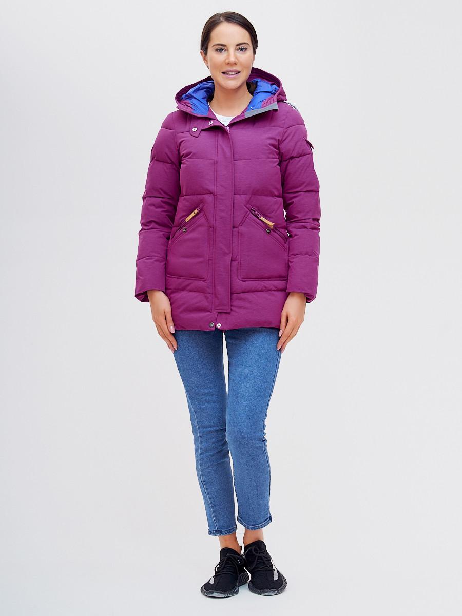 Купить оптом Куртка зимняя MTFORCE малинового цвета 2080M