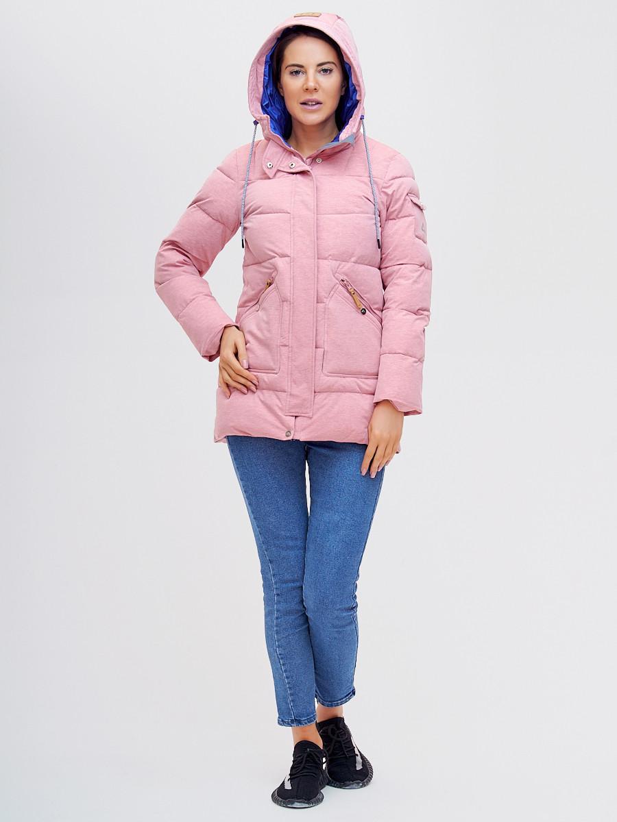 Купить оптом Куртка зимняя MTFORCE розового цвета 2080R