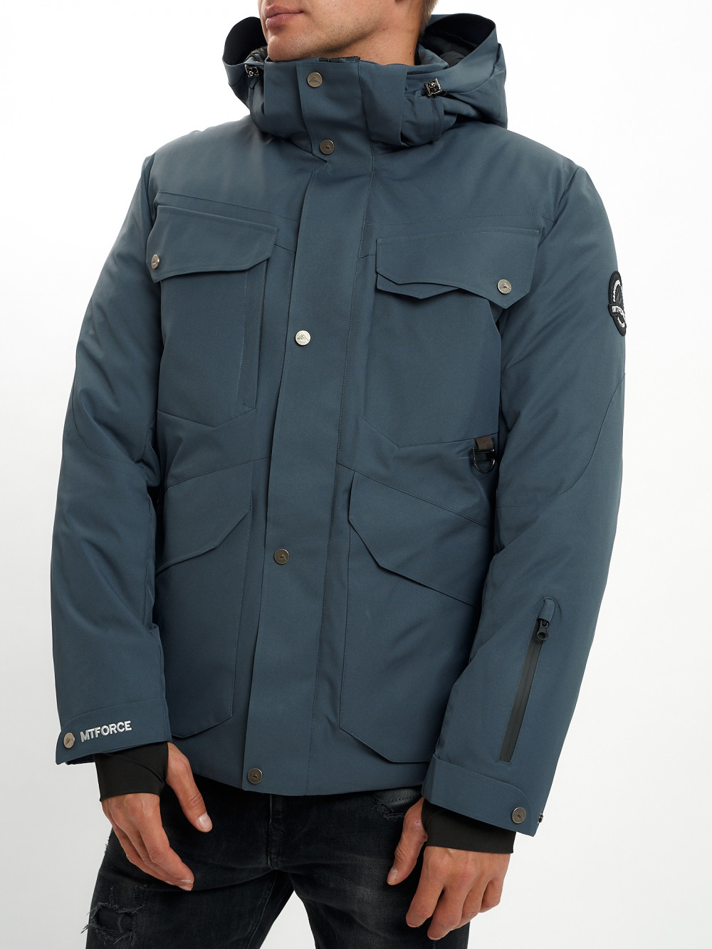 Купить оптом Горнолыжная куртка мужская MTFORCE темно-серого цвета 2088TC в Екатеринбурге
