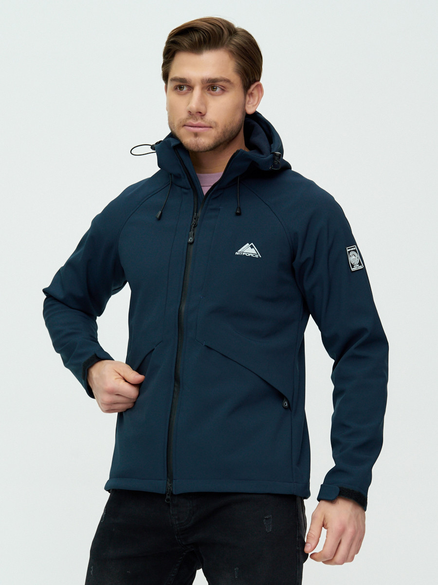 Купить оптом Ветровка мужская MTFORCE темно-синего цвета 2105TS в Екатеринбурге