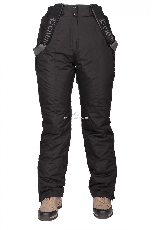Купить оптом Брюки горнолыжные женские черного цвета 211Ch в Омске